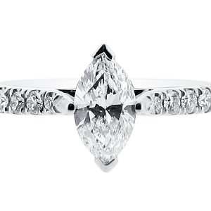 ER 1349 - marquise solitaire scallop