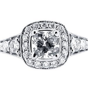Antique Halo Style Engagement Ring