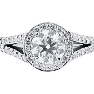 Antique Style Split Shoulder Diamond Ring