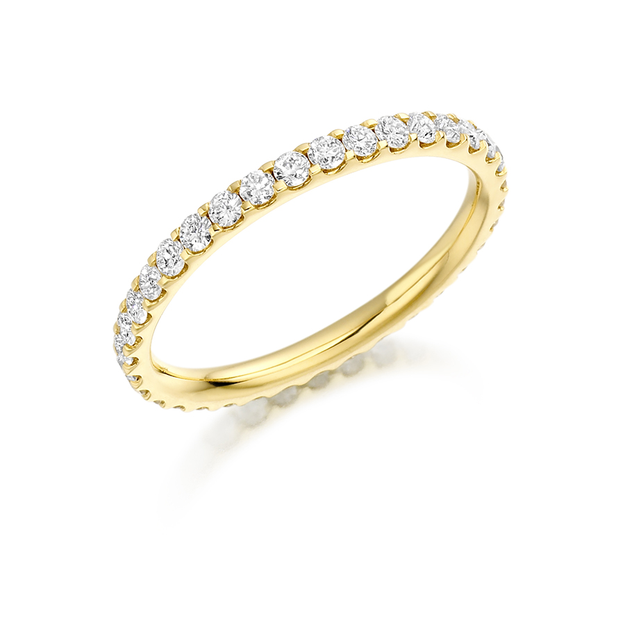ring set channel diamond atkinsons eternity products chanel bands rings gold seven yellow band